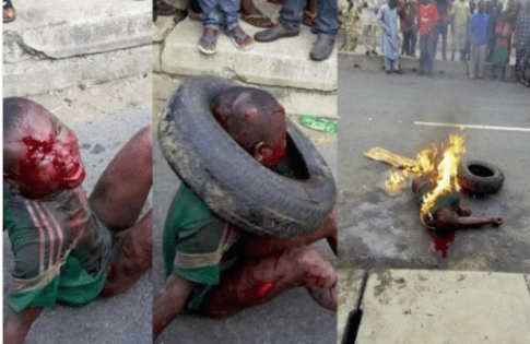 A seven years old lynched by angry mob in Lagos recently.....