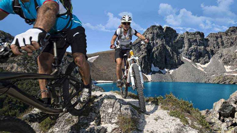 Mountainbiken bei Side