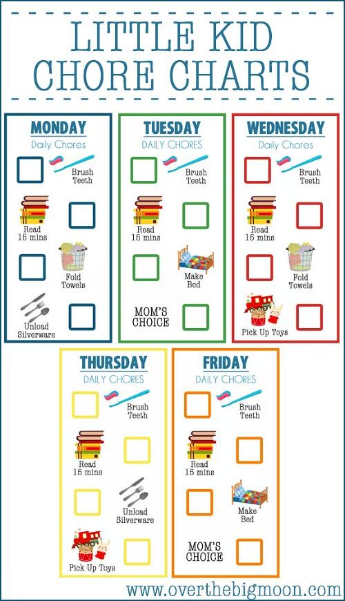Childrens Chore Chart Printable room surf