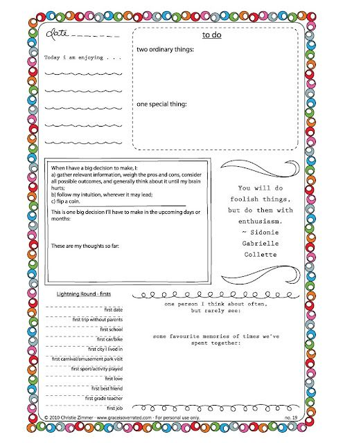 Free Printable Journal Templates room surf