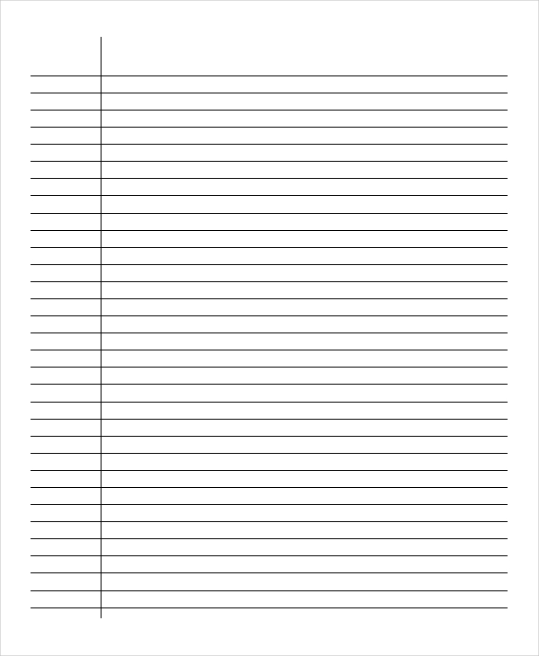 Free Printable Lined Paper room surf