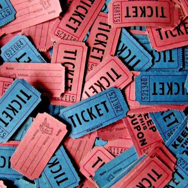raffle tickets - Delliberiberi - raffle ticket