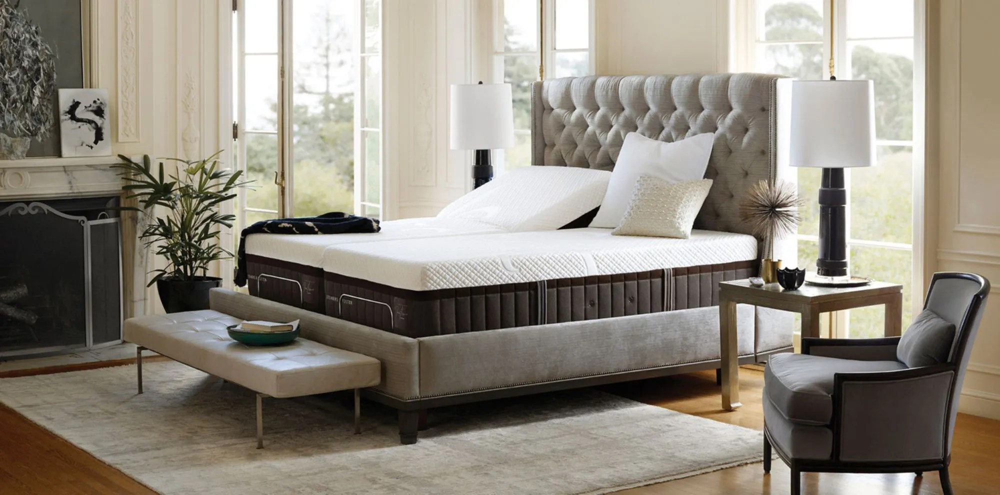 King Bed Ensemble Base Only Stearns Foster Mattress Reviews
