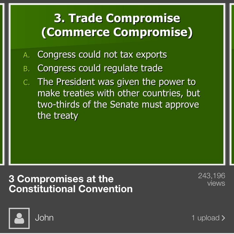 How did members of the Constitutional Convention compromise on