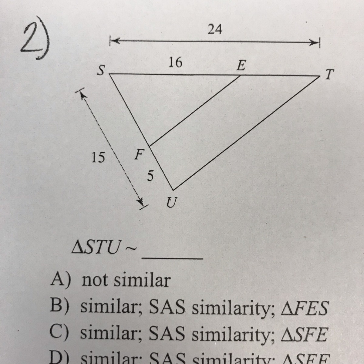 Sas Bad 24 Helpp I Need Help I Am Very Bad A Geometry So If Someone Can