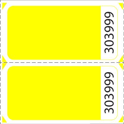 Blank Double Roll Raffle Tickets US-TICKETCOM