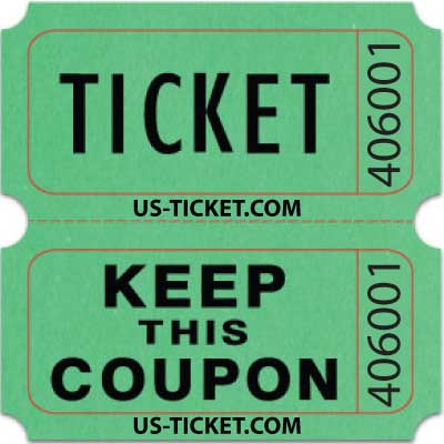 Bristol Double Roll Raffle Tickets US-TICKETCOM - raffle ticket