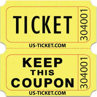 Standard Double Roll Raffle Tickets US-TICKETCOM - raffle ticket