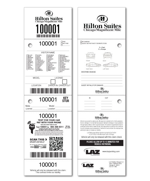 Custom Valet Ticket, Valet Tags, Car Checks US-TICKETCOM - food tickets template