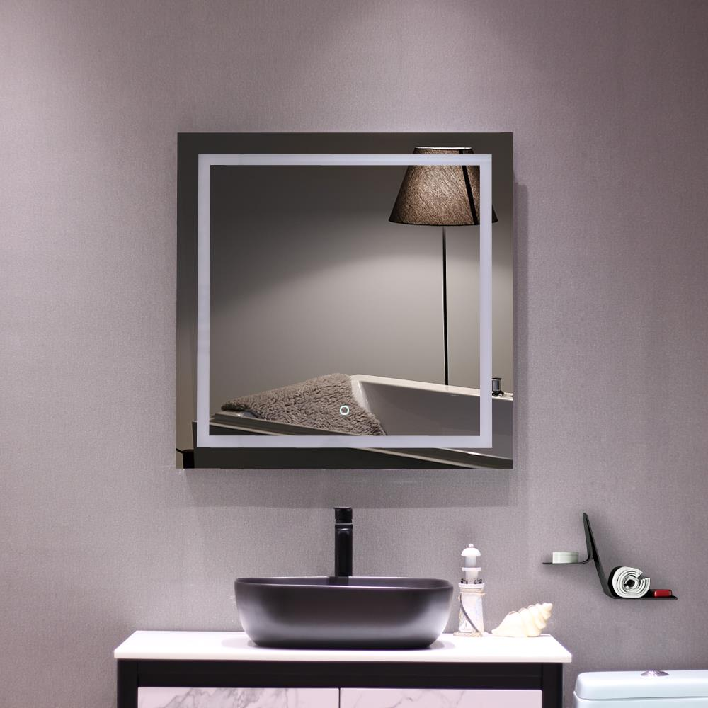 Wall Mounted Mirror Bathroom Vanity Large 32