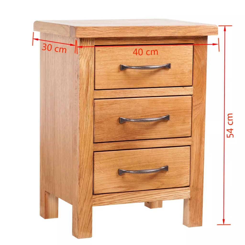 Oak Bedside Tables Details About Nightstand With 3 Drawers Bedside Cabinet Bedside Table Rustic Oak