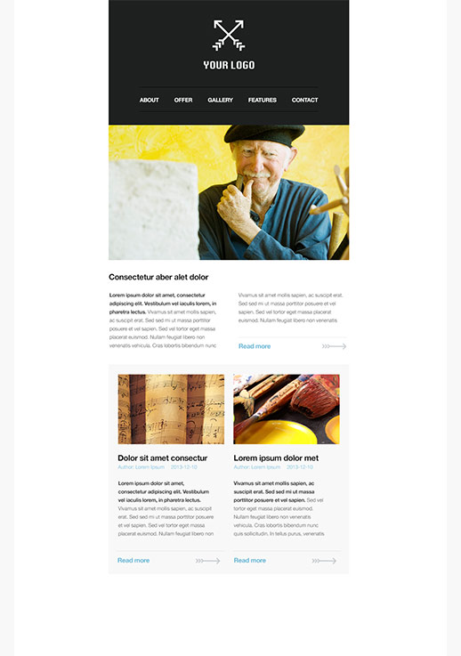Free Newsletter Templates - HTML Email Templates - GetResponse