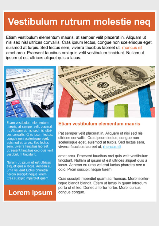 Financial Services Newsletter Templates - email marketing - GR