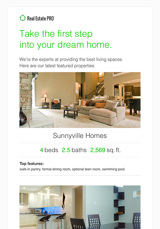 Real Estate Newsletter Templates - email marketing - GetResponse