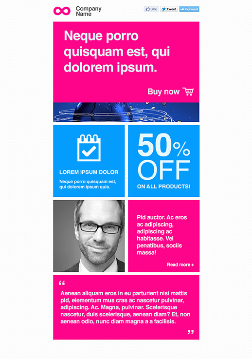 MLM Newsletter Templates - email marketing - GetResponse