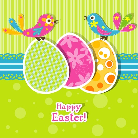 Template Easter Greeting Card, Vector Illustration Royalty Free - easter greeting card template