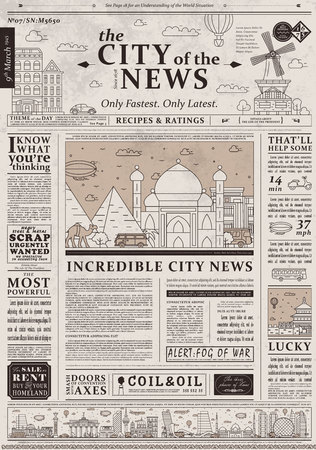 retro newspaper template - Pinarkubkireklamowe