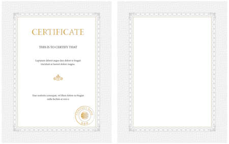 Vertical Certificate Template,blank Or With Sample Text - General - certificate template blank