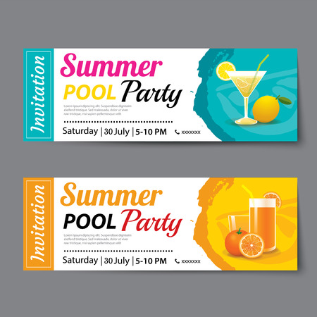 party ticket template - Maggilocustdesign