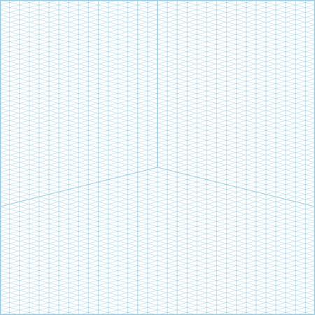 Vector Blue Wide Angle Isometric Grid Graph Paper Square - isometric graph paper