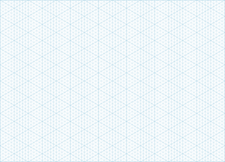 Blue Vector Isometric Grid Graph Paper Accented Every 5 Steps - isometric graph paper