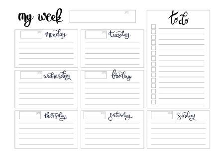 week planner sheet - Apmayssconstruction
