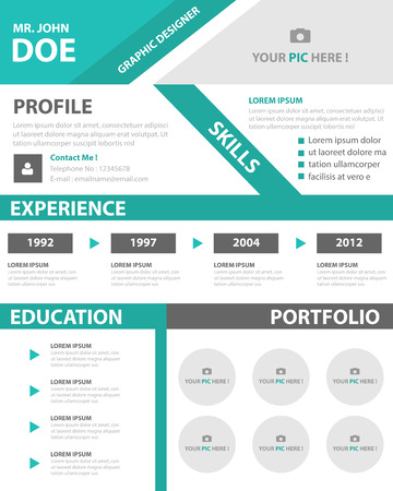 Green Smart Creative Resume Business Profile CV Vitae Template - business profile template