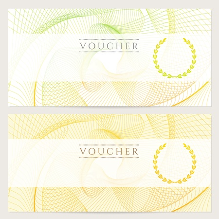 Gift Certificate, Voucher, Coupon Template With Colorful Rainbow - money coupon template
