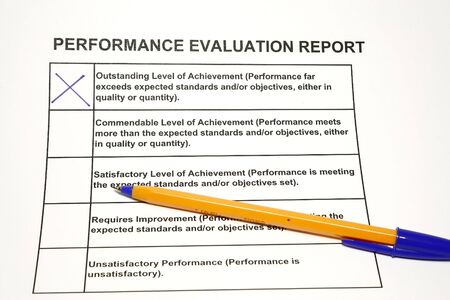 Employee Performance Evaluation Form Concept For HR Or Personnel - hr evaluation form