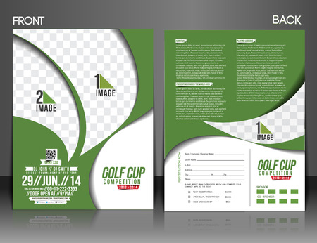 Golf Tournament Front \ Back Flyer Template Royalty Free Cliparts - golf tournament flyer template