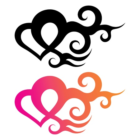 Tattoo Template Of A Heart With Abstract Ornament Royalty Free - tattoo template