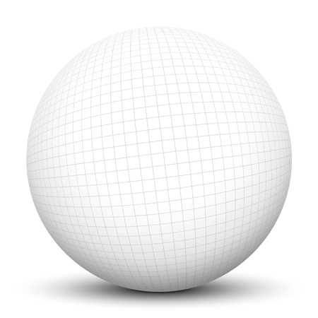3D Sphere With Checkered Graph Paper Texture And Smooth Shadow - 3d graph paper
