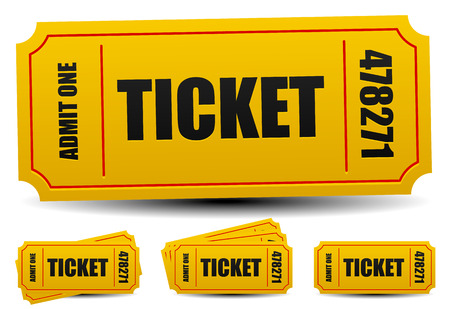 Admit One Tickets 4 Compositions Editable Vector Royalty Free - admit one ticket template