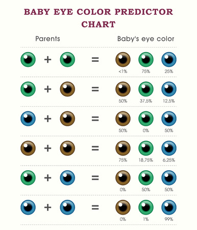 Baby Predictor Eye Color Chart Template Royalty Free Cliparts - eye chart template
