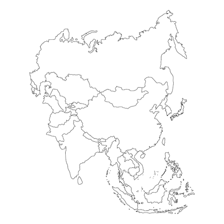 asia continent map outline - Towerssconstruction