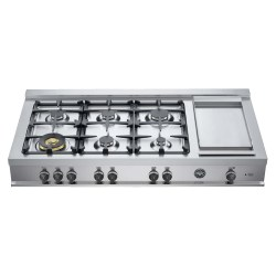 Small Crop Of Gas Cooktop With Griddle