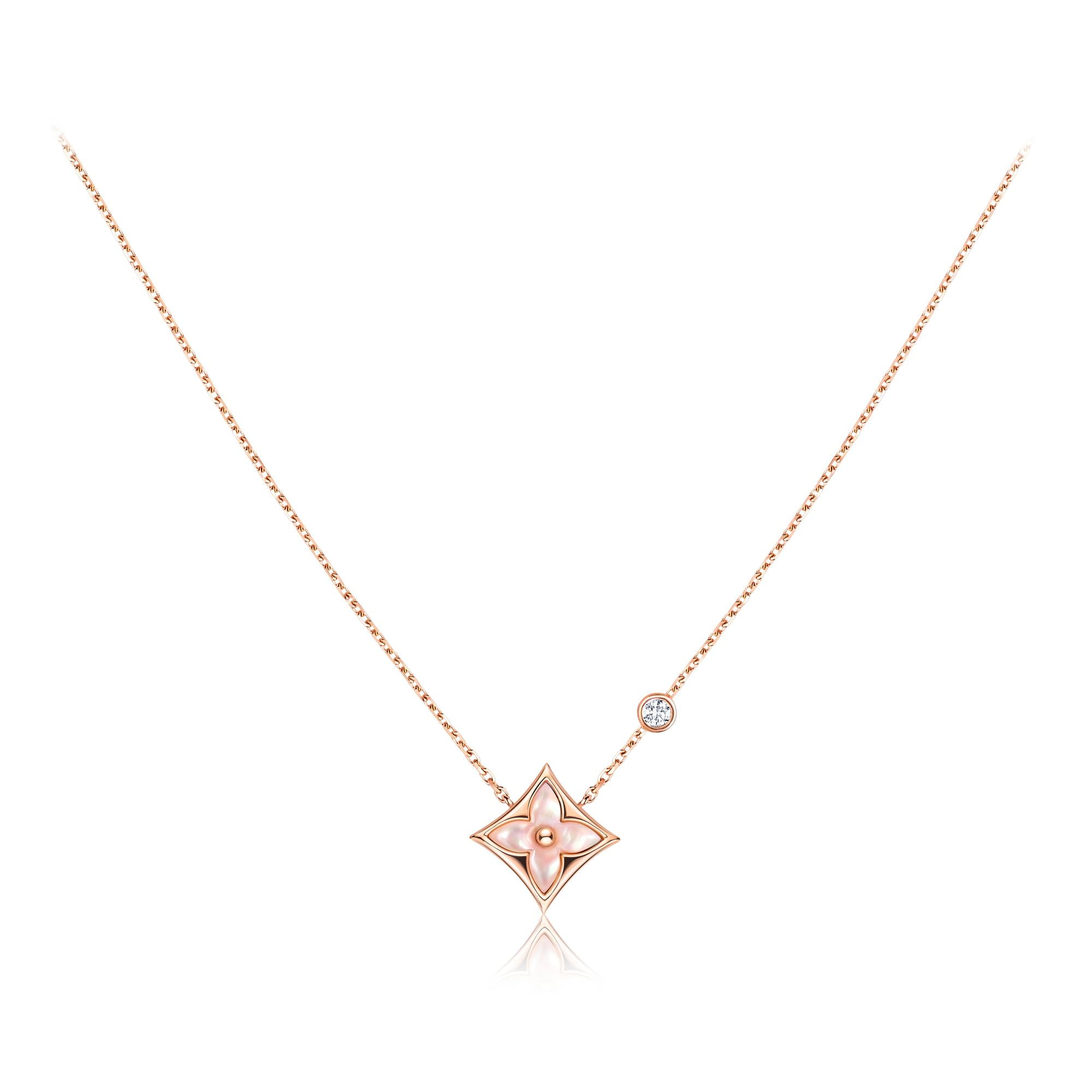 diamond monogram pendant