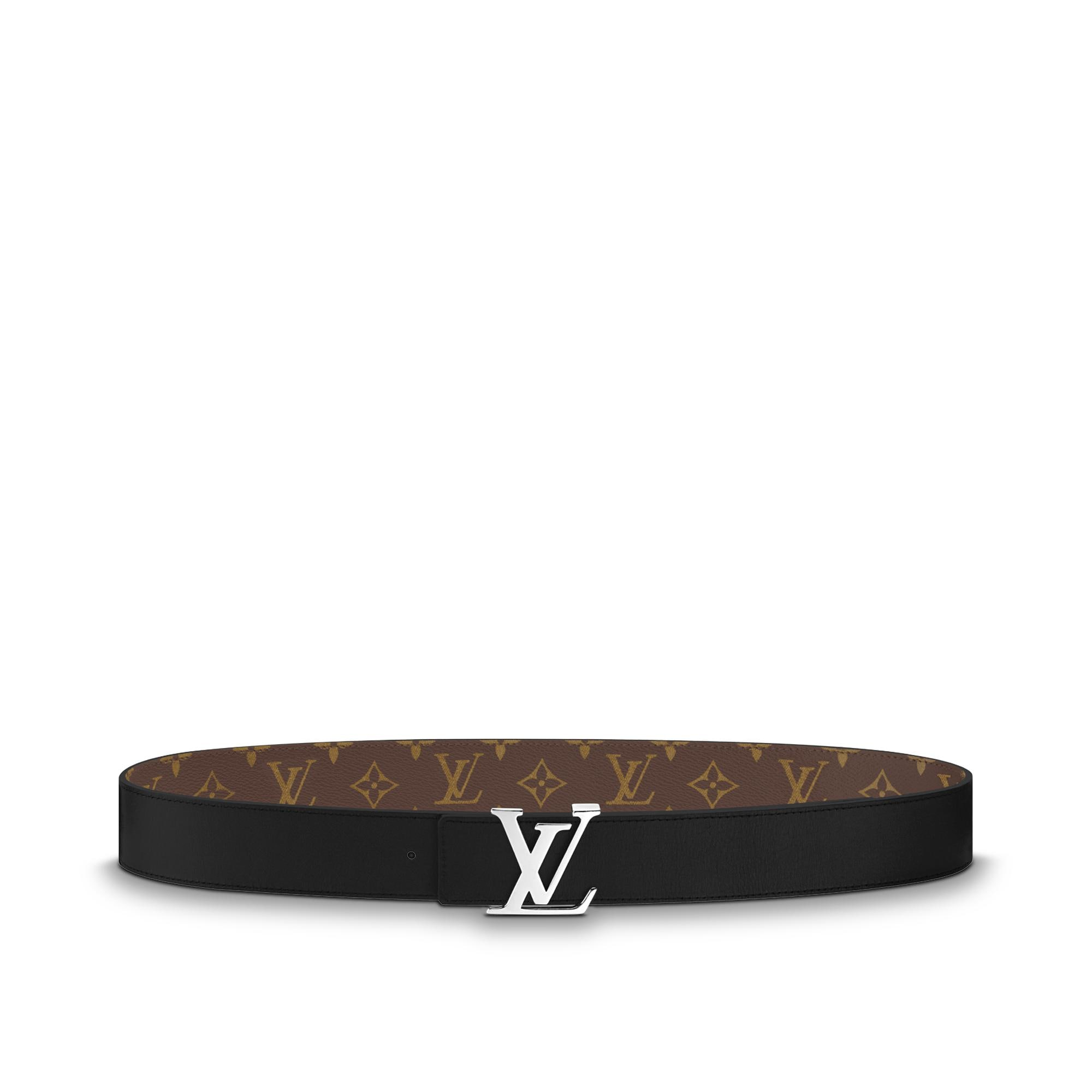 lv initiales reversible monogram belt