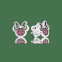 Disney, Sparkling Minnie Stud Earrings, Red CZ | PANDORA ...