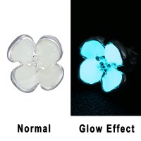 Fashion Silver Glow in the Dark Flower Earrings Ear Stud