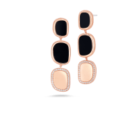 Drop Earrings with Black Jade and Diamonds | Roberto Coin