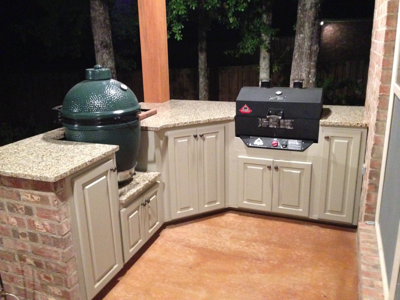 Outdoor Küche Green Egg Outdoor Kitchen Finished Big Green Egg Egghead