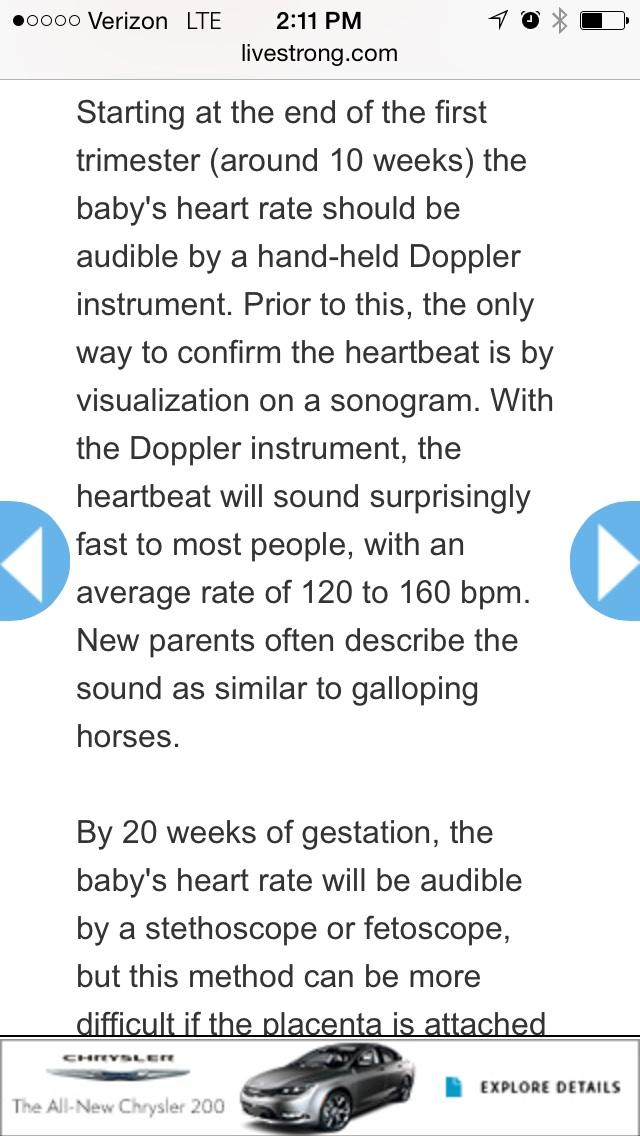 Sonoline B - Heart Rate Results \u2014 The Bump
