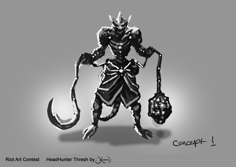 Riot Art Contest HeadHunter TRESH \u2014 polycount