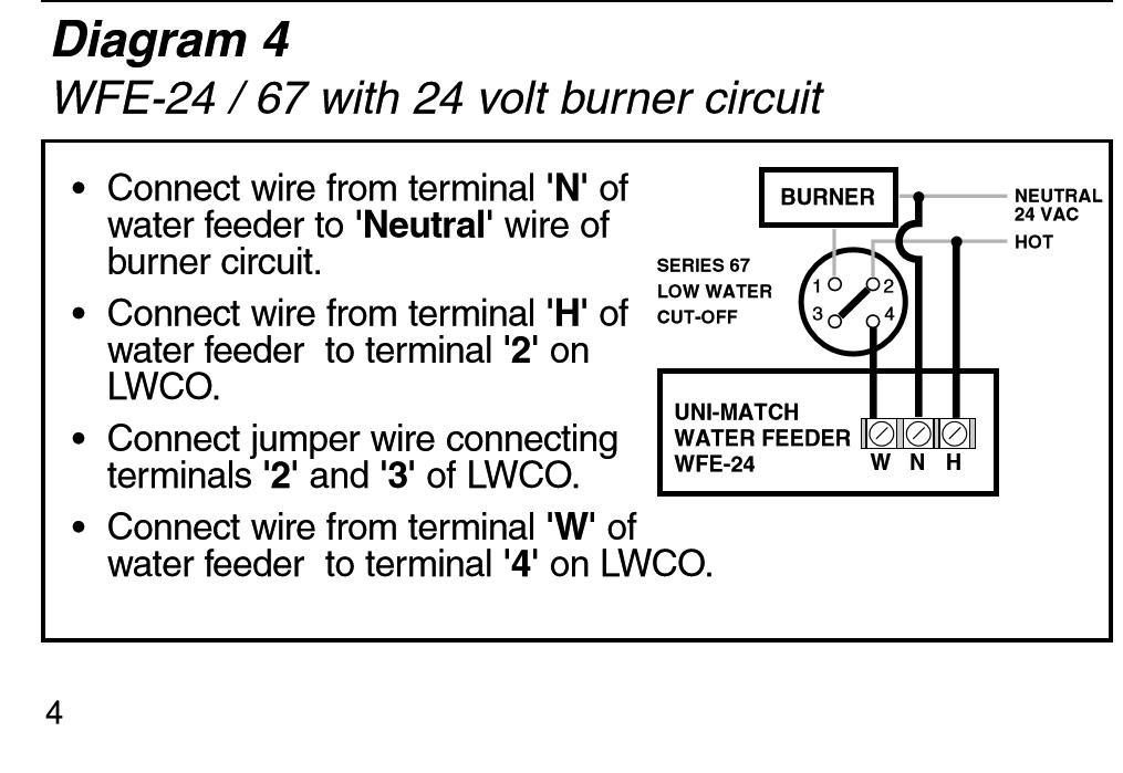 67 LWCO wiring torubles (STEAM) \u2014 Heating Help The Wall