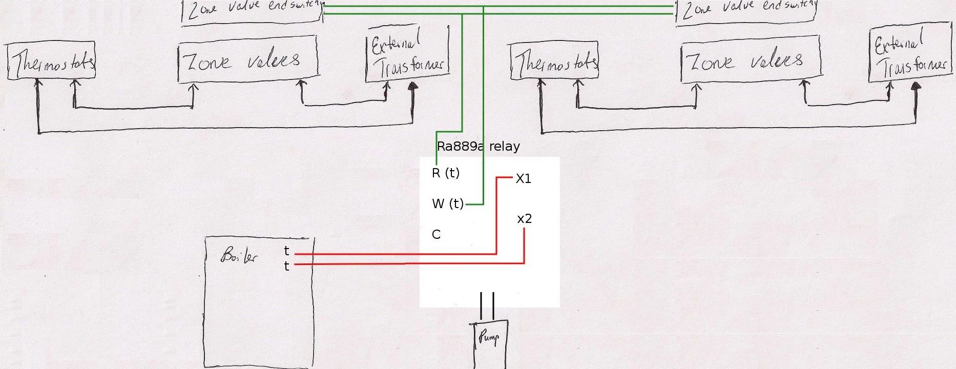 digital honeywell primary control wiring diagram for boiler system