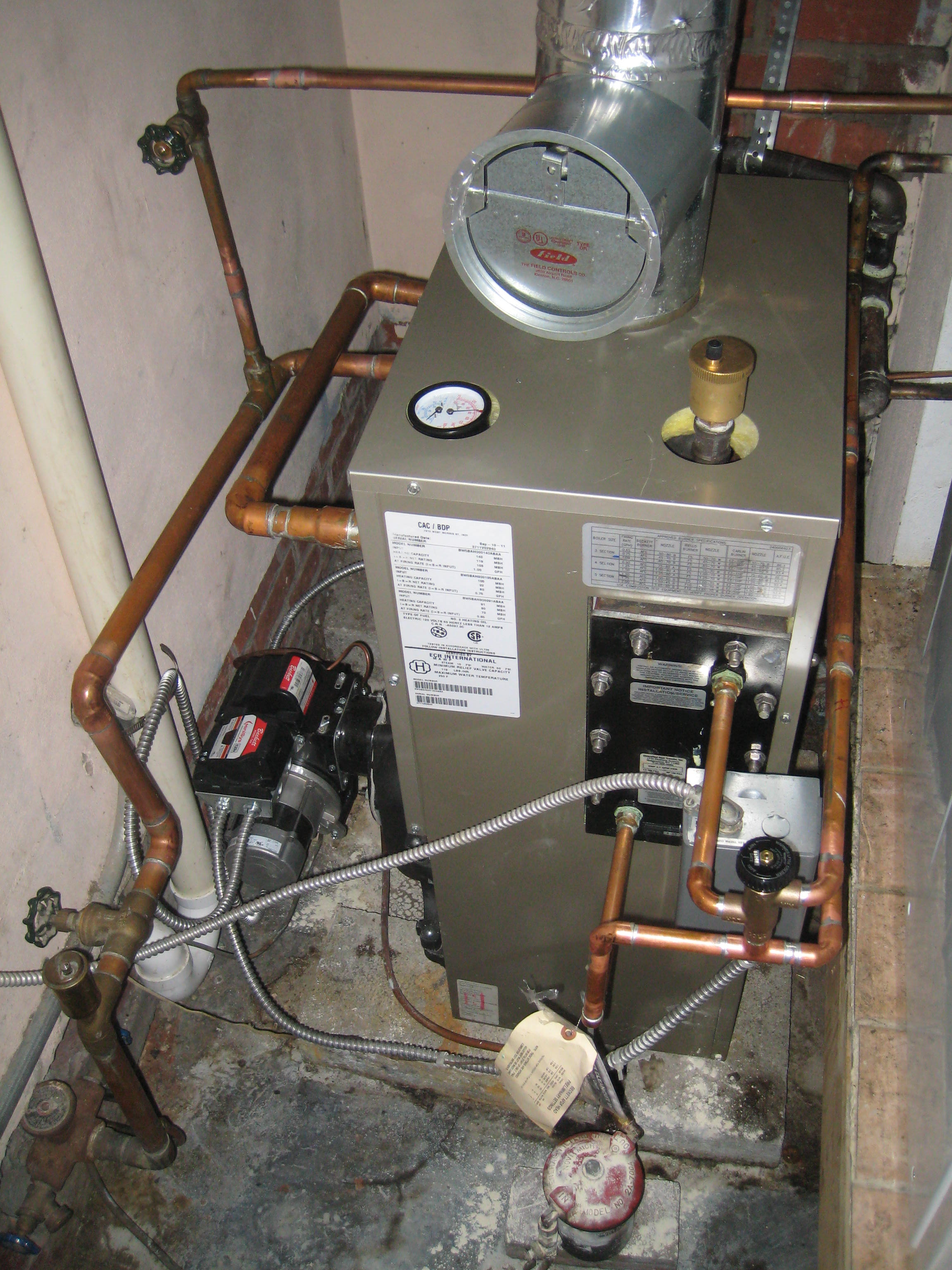 Boiler Bad Bad Boiler Installation Heating Help The Wall