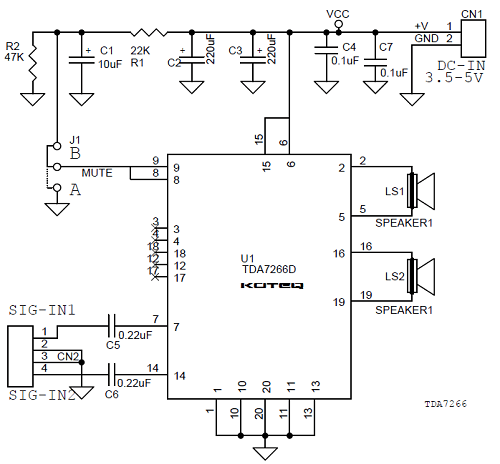 stereo audio signal tv circuit