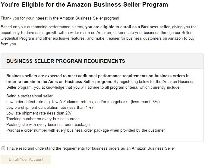 Does Anyone Have Experience with Amazon Business Seller Program