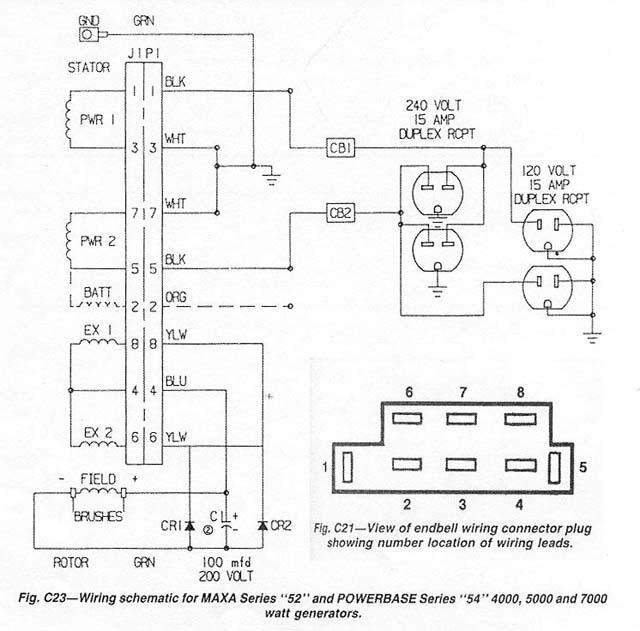 wiring schematic for coleman generator